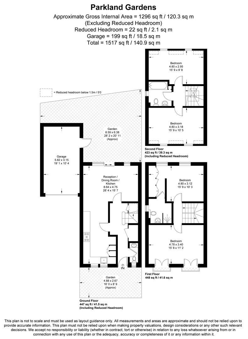 Floorplan for Parkland Gardens, Wimbledon